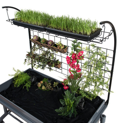 Craft Grower Kit - Trellis, Hanging Planters, and Removable Shelf