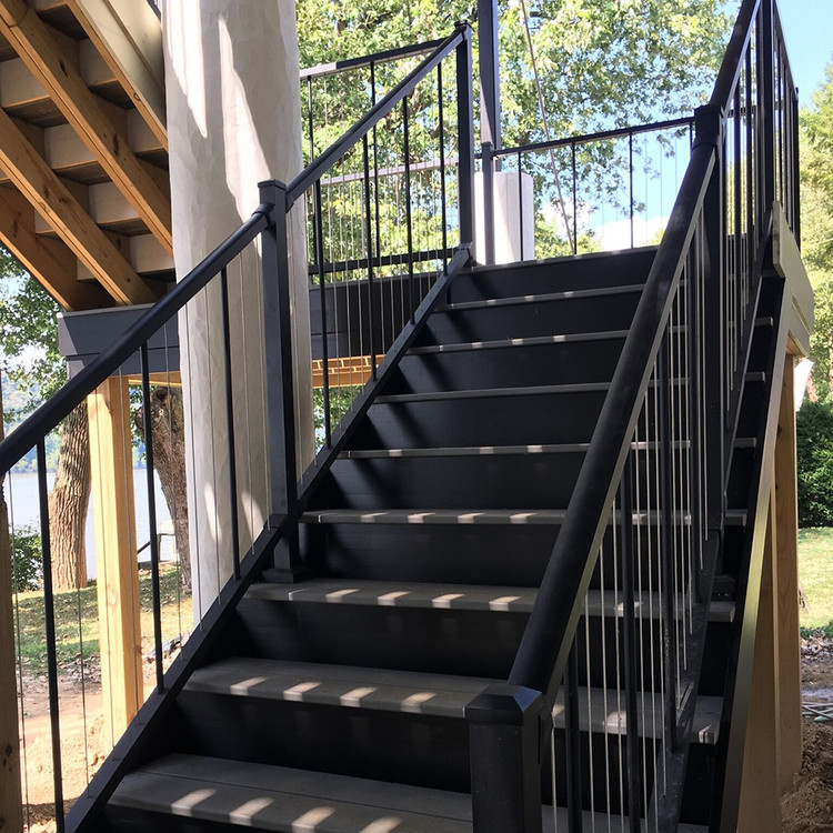 VertiCable Deck Stair Rail Section With Mounts